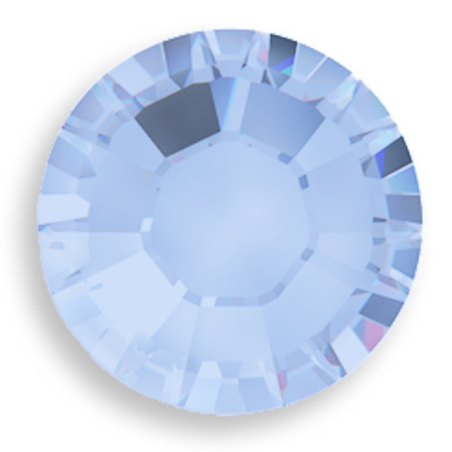 Swarovski 2028 8ss(~2.45mm) Xilion Flatback Air Blue Opal  Hot Fix