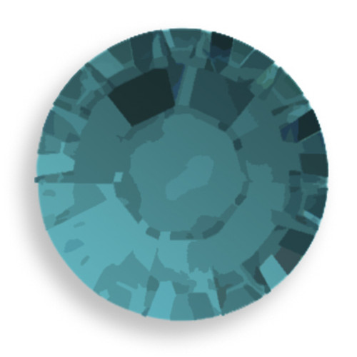 Swarovski 2028 8ss(~2.45mm) Xilion Flatback Blue Zircon Satin  Hot Fix
