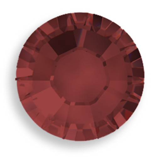 Swarovski 2028 8ss(~2.45mm) Xilion Flatback Burgundy    Hot Fix