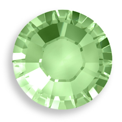 Swarovski 2028 8ss(~2.45mm) Xilion Flatback Chrysolite    Hot Fix
