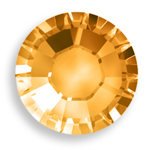 Swarovski 2028 8ss(~2.45mm) Xilion Flatback Crystal Copper   Hot Fix