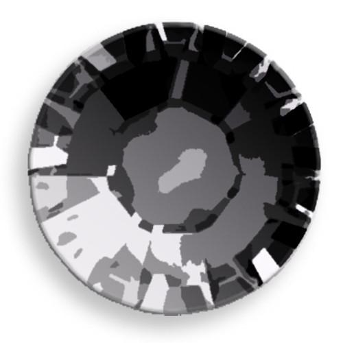 Swarovski 2028 8ss(~2.45mm) Xilion Flatback Crystal Cosmo Jet  Hot Fix