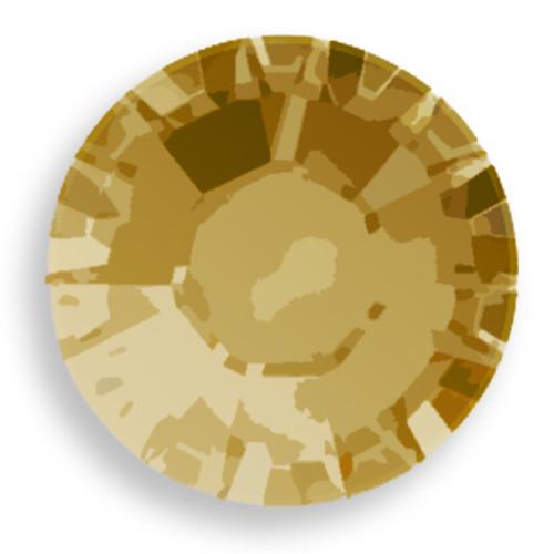 Swarovski 2028 8ss(~2.45mm) Xilion Flatback Crystal Dorado   Hot Fix