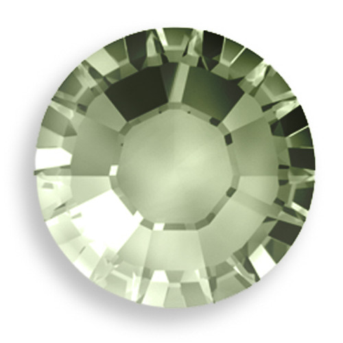 Swarovski 2028 8ss(~2.45mm) Xilion Flatback Crystal Sage   Hot Fix