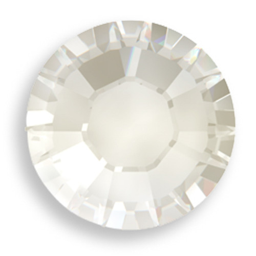 Swarovski 2028 8ss(~2.45mm) Xilion Flatback Crystal Silver Shade  Hot Fix