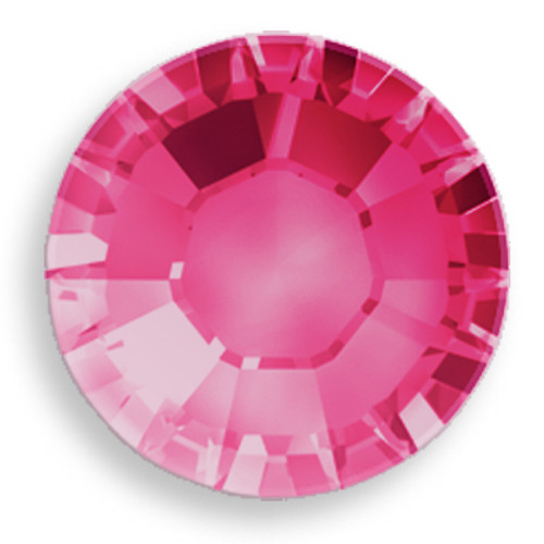Swarovski 2028 8ss(~2.45mm) Xilion Flatback Fuchsia    Hot Fix