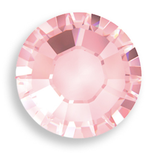 Swarovski 2028 8ss(~2.45mm) Xilion Flatback Light Rose   Hot Fix