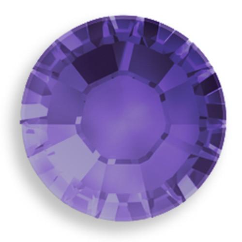 Swarovski 2028 8ss(~2.45mm) Xilion Flatback Purple Velvet   Hot Fix