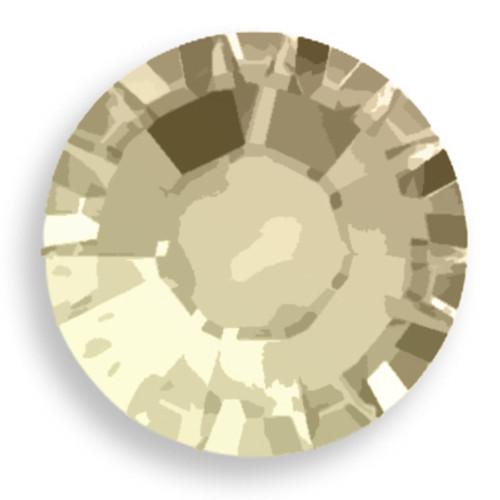 Swarovski 2028 8ss(~2.45mm) Xilion Flatback Sand Opal   Hot Fix