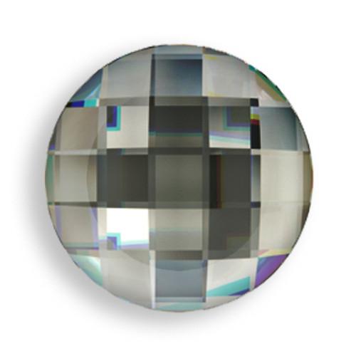 Swarovski 2035 20mm Chessboard Flatback Black Diamond