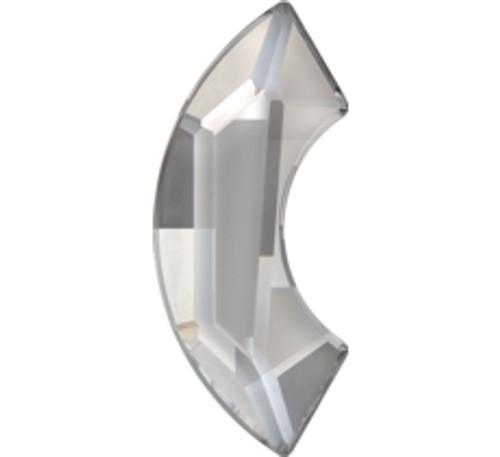 Swarovski 2037 14mm Eclipse Flatback Black Diamond   Hot Fix