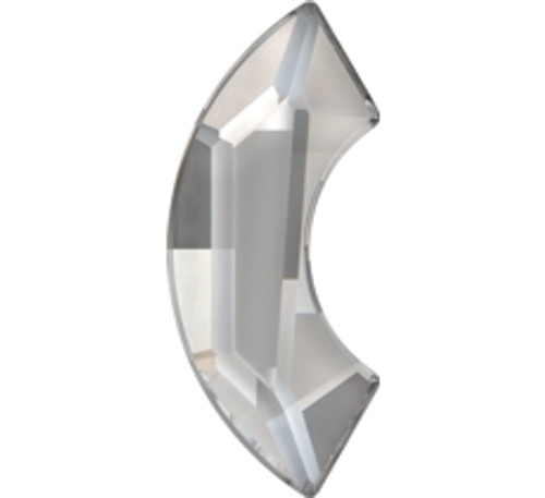 Swarovski 2037 8mm Eclipse Flatback Crystal Silver Shade