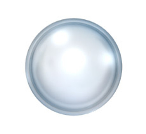 Swarovski 20804 34ss(~7.2mm) Cabochon Flatback Chalk White Pearl Hot Fix
