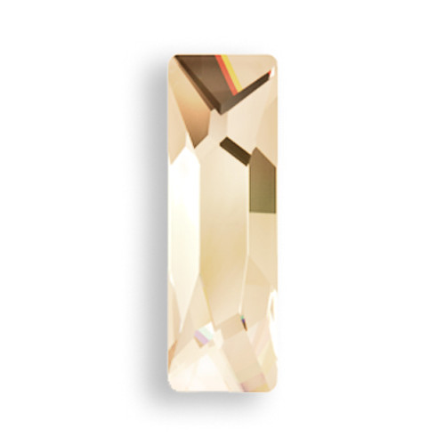 Swarovski 2555 15mm Baguette Flatback Crystal Golden Shadow