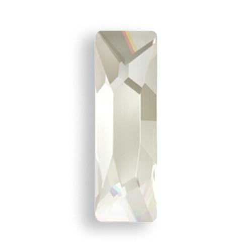 Swarovski 2555 8mm Baguette Flatback Crystal Silver Shade