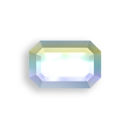 Swarovski 2610 6mm Rectangle Flatback Crystal AB