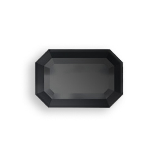 Swarovski 2610 6mm Rectangle Flatback Jet