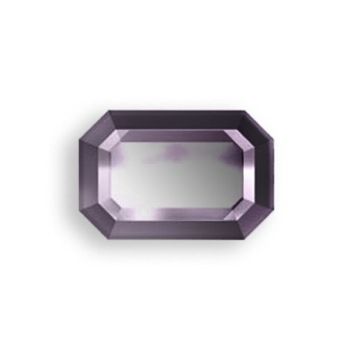 Swarovski 2610 6mm Rectangle Flatback Jet Hematite