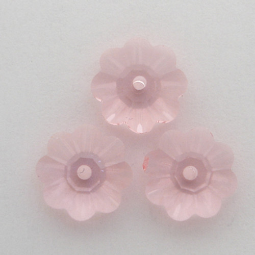 Swarovski 3700 10mm Marguerite Beads Light Rose