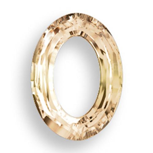 Swarovski 4137 22mm Oval Ring Beads x16 Crystal Golden Shadow