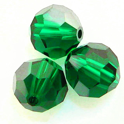 Swarovski 5000 4mm Round Beads Emerald Satin