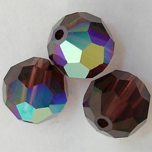 Swarovski 5000 6mm Round Beads Burgundy AB
