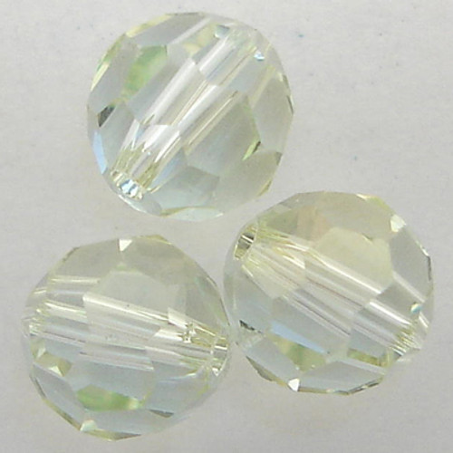 Swarovski 5000 8mm Round Beads Light Azore Champagne
