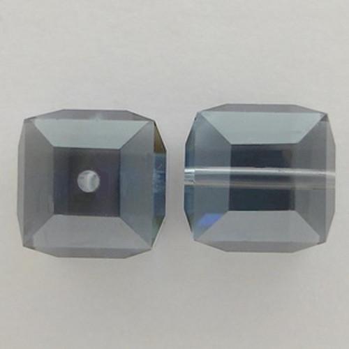 Swarovski 5601 4mm Cube Beads Light Sapphire Satin
