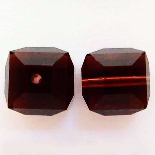 Swarovski 5601 8mm Cube Beads Burgundy