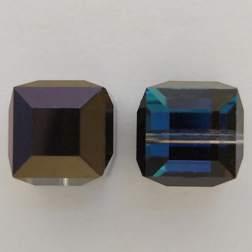 Swarovski 5601 8mm Cube Beads Crystal Bermuda Blue