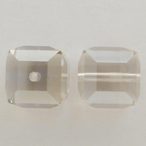 Swarovski 5601 8mm Cube Beads Crystal Silver Shade