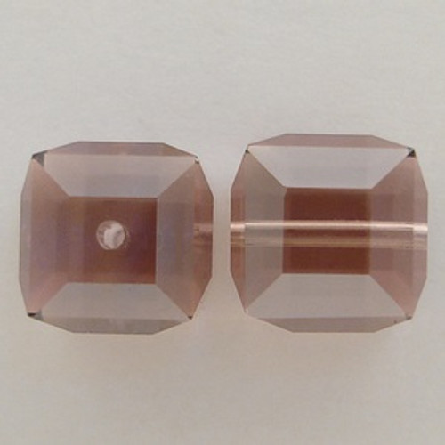 Swarovski 5601 8mm Cube Beads Light Rose Satin