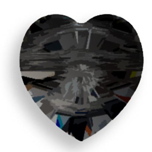 Swarovski 5742 14mm Heart Beads Jet