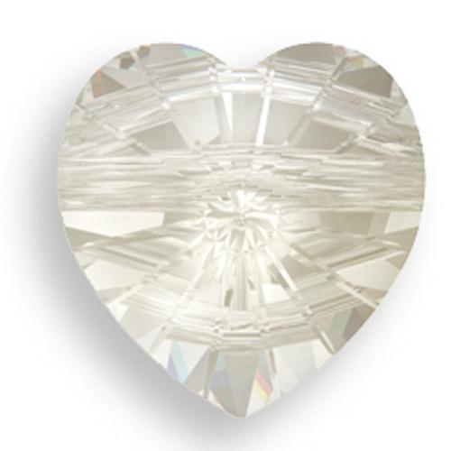 Swarovski 5742 8mm Heart Beads Crystal Silver Shade