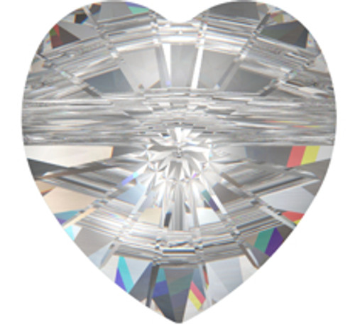 Swarovski 5742 8mm Heart Beads Light Topaz