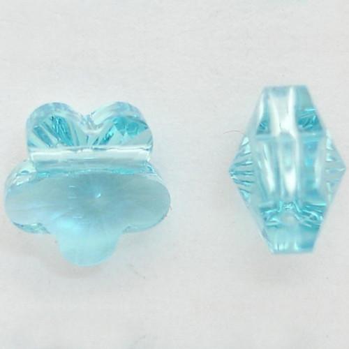 Swarovski 5744 5mm Flower Beads Aquamarine