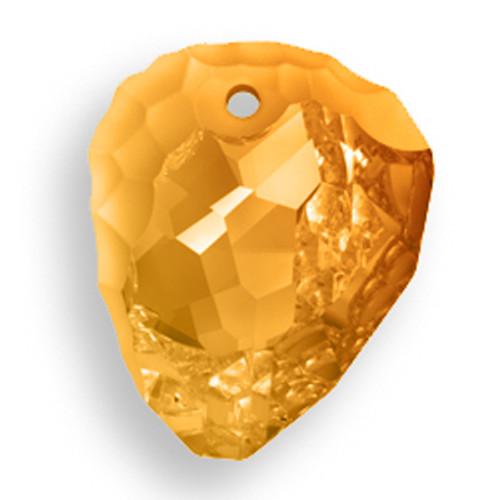 Swarovski 6190 35mm Rock Pendant Crystal Copper