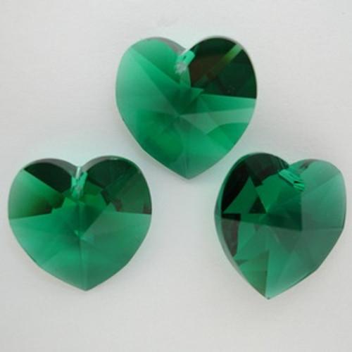 Swarovski 6228 18mm Heart Pendant Emerald