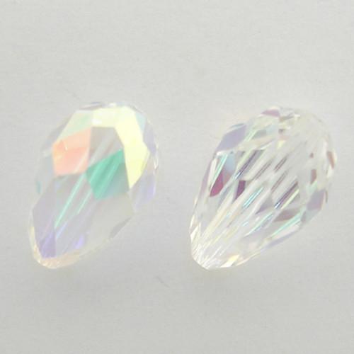 Swarovski 5500 12mm Pearshape Beads Crystal AB