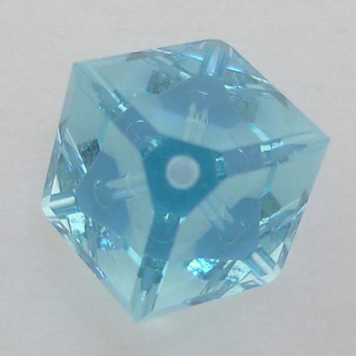 Swarovski 5600 8mm Offset Cube Beads Aquamarine