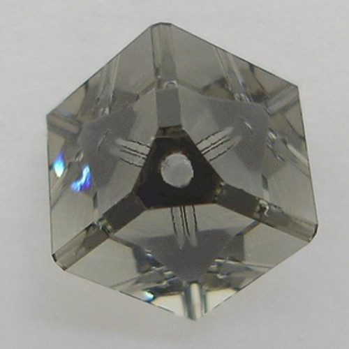 Swarovski 5600 8mm Offset Cube Beads Black Diamond