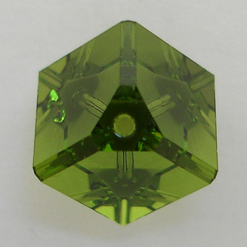 Swarovski 5600 8mm Offset Cube Beads Olivine