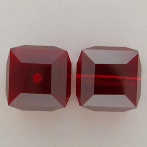 Swarovski 5601 10mm Cube Beads Siam Satin