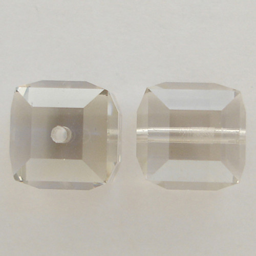 Swarovski 5601 4mm Cube Beads Crystal Silver Shade