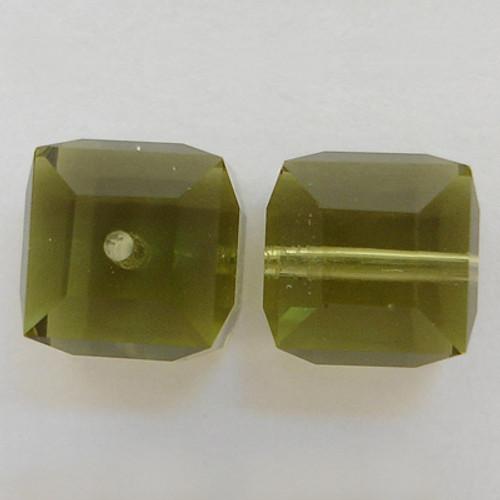 Swarovski 5601 4mm Cube Beads Khaki