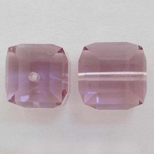 Swarovski 5601 4mm Cube Beads Light Amethyst