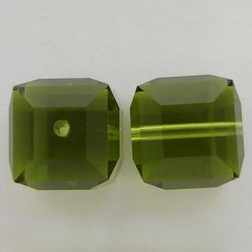 Swarovski 5601 4mm Cube Beads Olivine