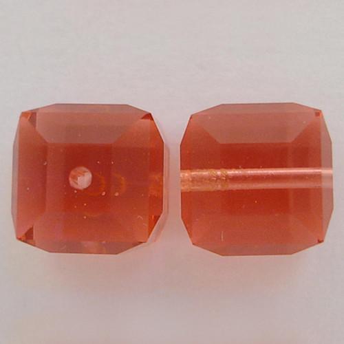 Swarovski 5601 4mm Cube Beads Padparadscha