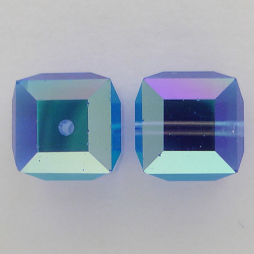 Swarovski 5601 4mm Cube Beads Sapphire AB