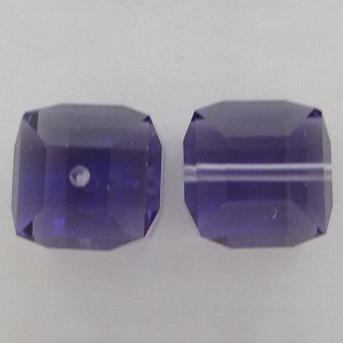 Swarovski 5601 4mm Cube Beads Tanzanite